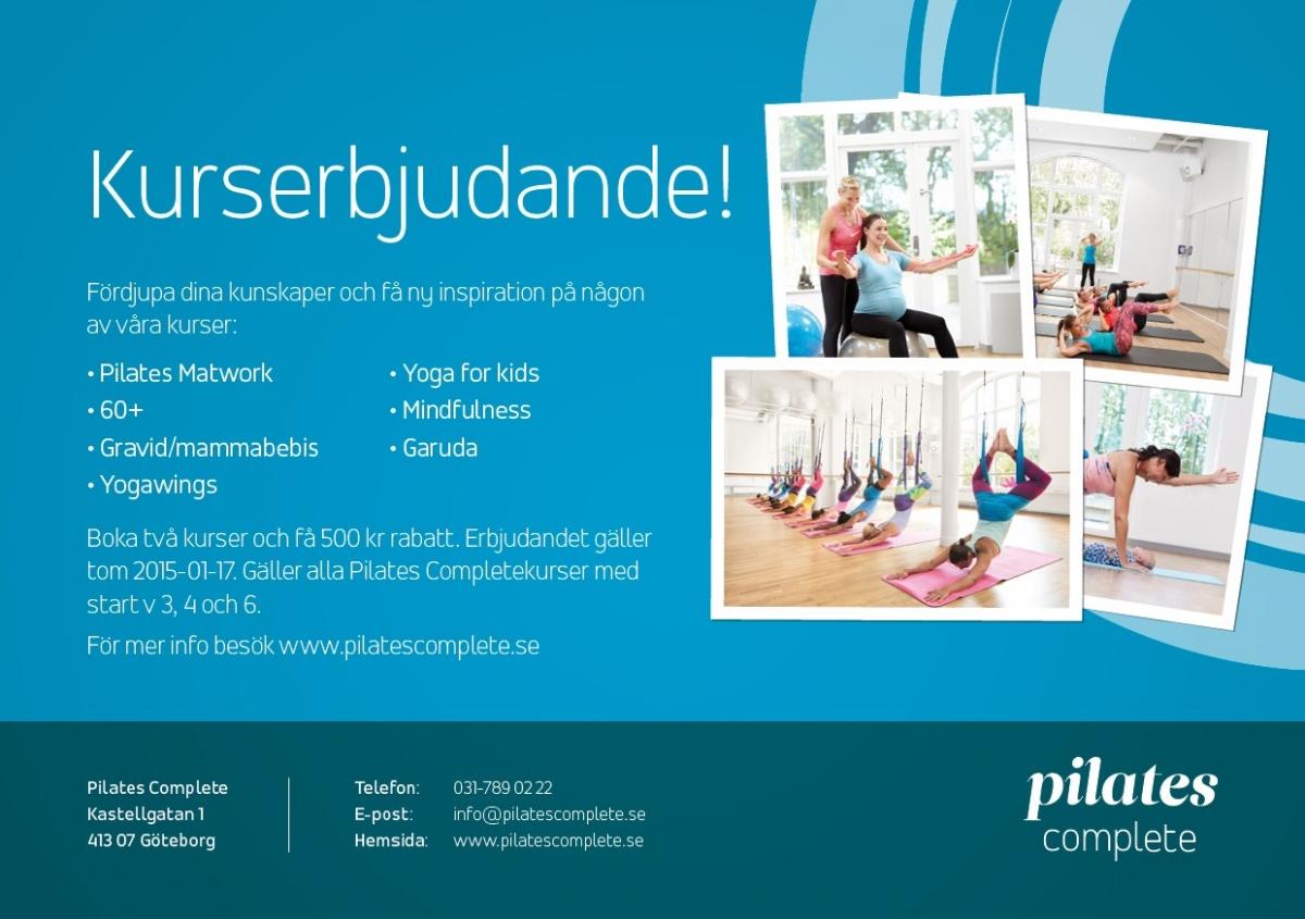 kurserbjudande pilatescomplete